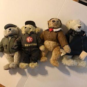4 Texaco Service Bears 90's Vintage SO CUTE